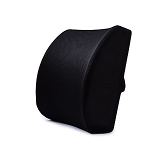 cheap Car DVR-Car memory foam waist support black back pad 3D mesh cover balanced and sturdy designed for tilting seats