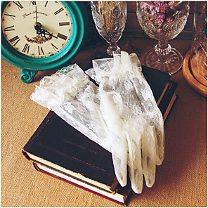 cheap Wedding Veils-Lace Wrist Length Glove Lace With Trim