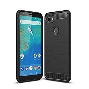 cheap Other Phone Case-Case For Google Pixel 3 / Google Pixel 3 XL / Google Pixel 3a XL Shockproof / Ultra-thin Back Cover Solid Colored Carbon Fiber Case For Google Pixel 3A