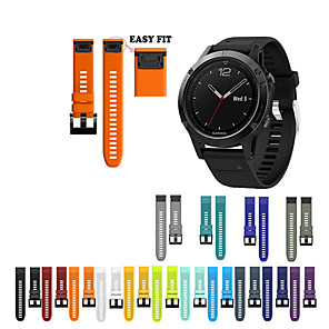 cheap Smartwatch Bands-Watch Band Wrist Strap for Garmin Fenix 5S / Fenix 5S Plus Watch Quick Release Silicone Easy fit Bracelet Wristband