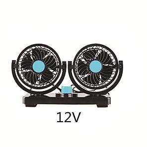 cheap Car Life Appliances-Car Fan Ventilador Air Conditioning Auto Cooler Double 360 Degrees Rotatable 12V or 24