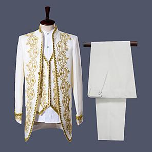 cheap Historical & Vintage Costumes-Prince Retro Vintage Medieval Coat Corset Pants Outfits Men's Costume Black / White Vintage Cosplay Party Long Sleeve Pantsuit / Jumpsuit / Vest / Vest
