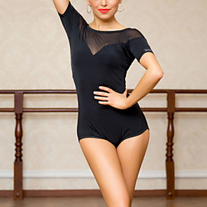cheap Latin Dancewear-Latin Dance Leotard / Onesie Split Joint Women's Training Polyester