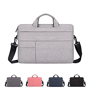 cheap Laptop Bags & Backpacks-11.6 Inch Laptop / 13.3 Inch Laptop / 14 Inch Laptop Shoulder Messenger Bag / Briefcase Handbags Canvas Solid Color Unisex Water Proof Shock Proof