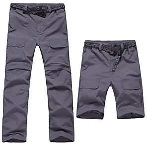 cheap Hiking Trousers & Shorts-Men's Hiking Pants Convertible Pants / Zip Off Pants Summer Outdoor UV Resistant Breathable Quick Dry Moisture Wicking Nylon Pants / Trousers Bottoms Dark Grey Army Green Khaki Camping / Hiking