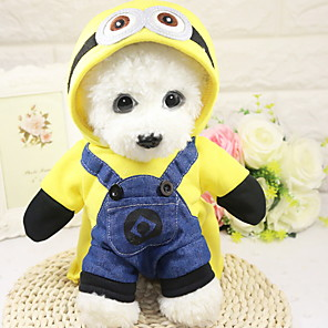 cheap Dog Clothes-Dogs Outfits Winter Dog Clothes Yellow Costume Polyster Character Holiday Halloween XS S M L XL XXL
