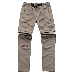 cheap Hiking Trousers & Shorts-Men's Women's Hiking Pants Convertible Pants / Zip Off Pants Summer Outdoor Breathable Quick Dry Ultra Light (UL) Sweat-wicking Pants / Trousers Bottoms Black Army Green Light Grey Khaki Hunting