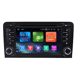 povoljno DVD playeri za auto-Factory OEM WN7047 7 inch 2 Din Android / Android 9.0 U-crtica DVD player / Car GPS Navigator GPS / Ugrađeni Bluetooth / RDS za Audi RCA podrška MPEG / AVI / MOV MP3 / FLAC / APE JPEG / GIF / BMP