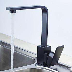 cheap Kitchen Faucets-Kitchen faucet - Single Handle One Hole Standard Spout Contemporary Kitchen Taps