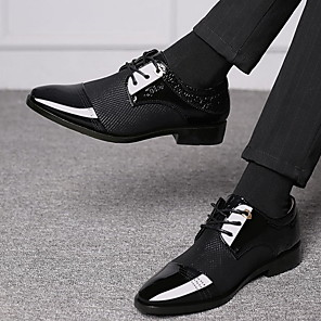 cheap Men's Oxfords-Men's Dress Shoes Derby Shoes Summer Business / Classic Daily Party & Evening Office & Career Oxfords PU Breathable Brown / Black