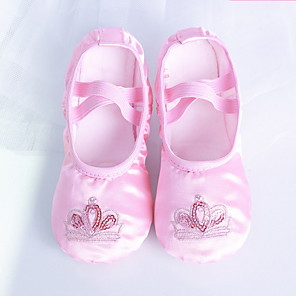 cheap Movie & TV Theme Costumes-Girls' Dance Shoes Ballet Shoes Flat Flat Heel Customizable Pink / Satin / Practice