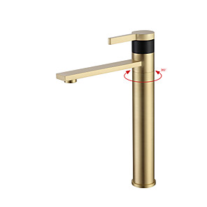 cheap Bathroom Sink Faucets-Bathroom Sink Faucet - Widespread Chrome / Oil-rubbed Bronze / Brushed Centerset Single Handle One HoleBath Taps