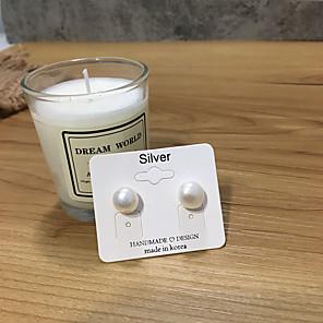 cheap Earrings-Women's Earrings Vintage Style Joy S925 Sterling Silver Earrings Jewelry White For Gift Daily Festival 1 Pair