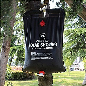 cheap Bathroom Gadgets-solar camping shower bag,Portable Solar Shower Camping Bag 5 Gallon Ultralight PVC Black Bag for Summer Camping Outdoor Hiking Travel