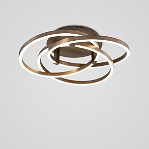 cheap Dimmable Ceiling Lights-60 cm LED® 3-Light Linear Novelty Flush Mount Lights Ambient Light Painted Finishes Metal LED 110-120V 220-240V