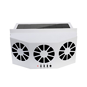 cheap Car Audio-Car Ventilator 3 Cooler Fans Solar-powered Cooling Vent Exhaust Portable Safe Auto Fan