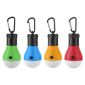 cheap Flashlights-4pcs 3 W Waterproof / Creative / Dimmable White Batteries Powered Outdoor Lighting / Swimming pool / Outdoor Camping Light Hook Portable LED Tent Light Mini Camping Light / Courtyard 3 LED Beads