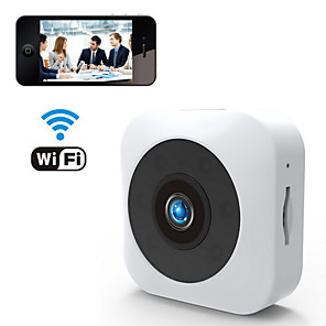 cheap CCTV Cameras-Wifi&Wireless HD 1080P 2MP Mini Camera Mobile Phone Remote Viewing Motion Detection Alarm Night Vision 140° Super Wide Angle For Office Classroom Drive Home Support TF Card