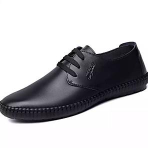 cheap Men's Sneakers-Men's Comfort Shoes PU Summer Oxfords Black / Orange