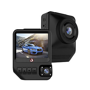 cheap Car DVR-JUNSUN Q2 1080p Car DVR 170 Degree Wide Angle 2.33 inch Dual Lens IPS Dash Cam with Night Vision/G-Sensor/Parking Monitoring/4 infrared LEDs/WDR/Loop recording/Motion detection