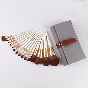 cheap Eyeliner Brushes-Professional Makeup Brushes 15pcs Professional Soft Comfy Wooden / Bamboo for Makeup Brush