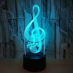 cheap 3D Night Lights-Note 3D Colorful Visual Lights Colorful Touch 3D LED Lights