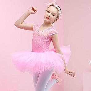 cheap Ballet Dancewear-Swan Lake Ballet Dancer Dress Tutu Girls' Movie Cosplay Purple / Blue / Pink Dress Cotton