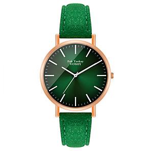 cheap Quartz Watches-Women's Quartz Watches Quartz Stylish Fashion Casual Watch PU Leather Green / Purple Analog - Purple Green One Year Battery Life / Jinli 377
