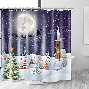 cheap Shower Curtains-Shower Curtains & Hooks Modern Polyester New Design