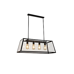 cheap Pendant Lights-MAISHANG® 4-Light 30 cm Chandelier Metal Glass Island / Industrial Painted Finishes Retro Vintage / Country 110-120V / 220-240V
