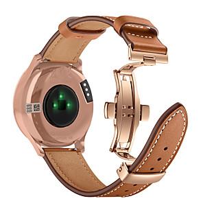 cheap Smartwatch Bands-Watch Band For Garmin Vivomove HR Rose Gold Butterfly Buckle Fashion Genuine Leather Strap Bracelet Belt