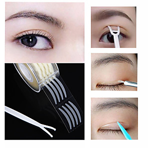 cheap Facial Care Devices-600pcs Eyelid Tape Sticker Invisible Double Fold Eyelid Paste Clear Beige Stripe Self-adhesive Natural Eye Tape Makeup Tools