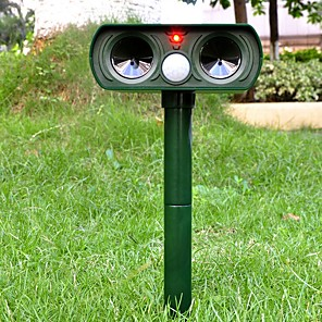 cheap Level Measuring Instruments-Outdoor Solar Ultrasonic Animal Repeller Mosquito Killer PIR Sensor Garden Dog Cat Fox Deterrent Chaser Repellent Pest Control
