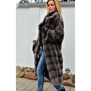 cheap Wedding Wraps-Long Sleeve Coats / Jackets Rabbit Fur Wedding Women's Wrap With Fur