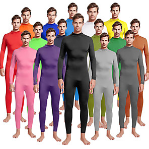 cheap Synthetic Trendy Wigs-Zentai Suits Cosplay Costume Skin Suit Adults' Spandex Lycra Cosplay Costumes Sex Men's Women's Solid Colored Christmas Halloween Carnival / High Elasticity