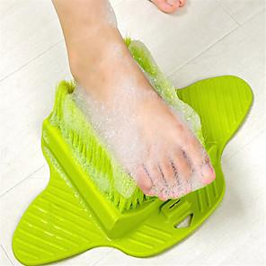 cheap Bath Body Care-Foot Scrubber Brush Shower Skin Exfoliator Scrubber Soft and Stiff Bristles Dry Callus Scrub Soap Feet Cleaner with Floor Suction for Bathtub
