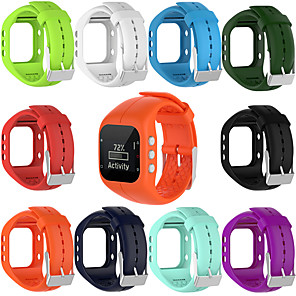 cheap Smartwatch Bands-Soft Silicone Rubber Watch Band Wrist Strap For Polar A300 Fitness Watch