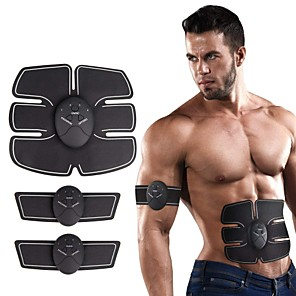cheap Health & Household Care-Abs Stimulator Abdominal Toning Belt EMS Abs Trainer Silicon Electronic Muscle Toner Wireless Weight Loss Ultimate Training Muscle Building Exercise & Fitness Gym Workout For Men Women Leg Abdomen
