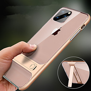 cheap iPhone Cases-Case For Apple iPhone 11 / iPhone 11 Pro / iPhone 11 Pro Max with Stand Back Cover Solid Colored TPU / PC