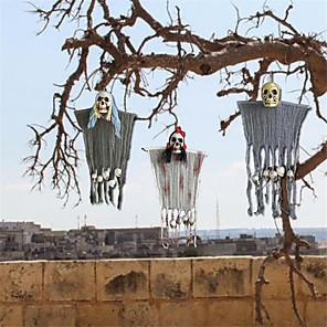 cheap Halloween Party Supplies-Halloween skull head door curtain hanging Halloween ghost house Bar Terror decorative accessories party supplies