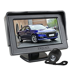 cheap Car DVR-ZIQIAO 4.3 inch Foldable Car Monitor TFT LCD Display Cameras Reverse Camera Parking System for Car Rear View Monitors NTSC PAL