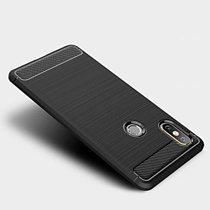 cheap Xiaomi Case-Case For Xiaomi Mi Mix 2S Shockproof / Ultra-thin Back Cover Solid Colored Carbon FiberCase For Xiaomi Mi Mix 2S