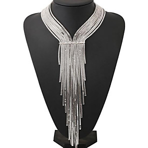 cheap Jewelry Sets-Women's Necklace Geometrical Vertical / Gold bar Fashion Chrome Gold Silver 40+5 cm Necklace Jewelry 1pc For Daily