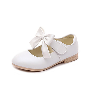 cheap Kids' Flats-Girls' Comfort / Flower Girl Shoes / Children's Day PU Flats Little Kids(4-7ys) / Big Kids(7years +) Bowknot White / Pink / Gold Spring / Fall / Party & Evening / TR