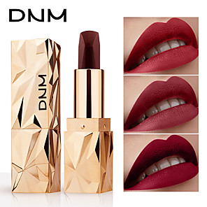cheap Lip Sticks-DNM Long Lasting Matte Color Changing Lipstick Moisturizer Velvet Lip Gloss Waterproof Cosmetic Beauty Makeup