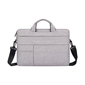cheap Sleeves,Cases & Covers-11.6 Inch Laptop / 12 Inch Laptop / 13.3 Inch Laptop Sleeve / Shoulder Messenger Bag / Briefcase Handbags Nylon Fiber Solid Color / Textured for Business Office for Colleages & Schools Waterpoof
