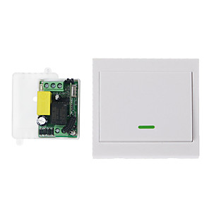 cheap Smart Plug-AC220V 1CH Wireless Remote Control Switch System / RF Receiver Transmitter 1 Button Remote  433.92mhz