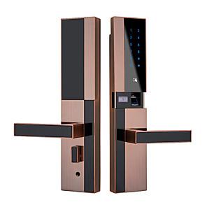 cheap Testers & Detectors-Factory OEM 820 Aluminium alloy Fingerprint Lock / Password lock Smart Home Security Android System Fingerprint unlocking / Password unlocking / APP unlocking Home / Office / Hotel Wooden Door
