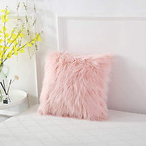 cheap Sale-1 pcs Cotton / Linen Pillow Cover, Solid Colored Throw Pillow