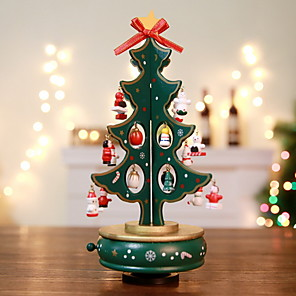 cheap Christmas Decorations-Christmas Ornaments Christmas Tree Wooden Christmas tree Novelty Christmas Decoration